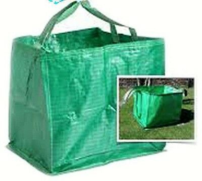Heavy Duty Garden Bag Waste Grass Leaves Bin Sack Carry Handles Refuse Reusable