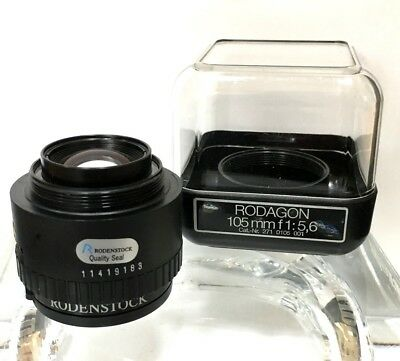 RODENSTOCK RODAGON 1:5.6 F105mm Enlarger Lens..EXCELLENT UNUSED CONDITION