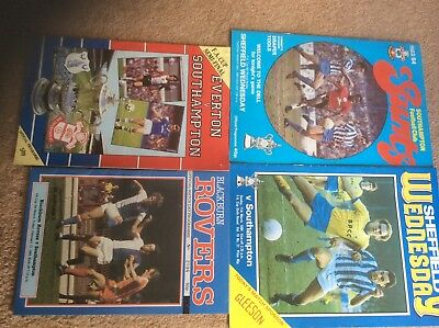 Southampton FA CUP 5th, 6th +6th replay and Semi Final programmes from1984.
