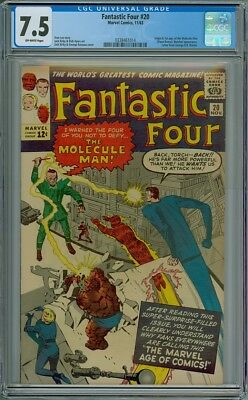 Fantastic Four #20 - CGC Graded 7.5 - 1st Appearance Of The Molecule Man
