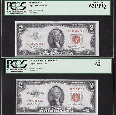 Complete Lot Of 12 Legal Tender Notes,  Red Seal, Pcgs Graded All New