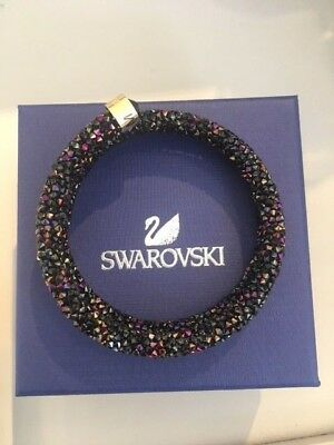 Swarovski Crystal Double Crystal Dust Cuff Multi Black Bracelet