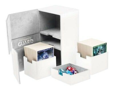 Ultimate Guard - Twin Flip'N'Tray Xenoskin Deck Case 200+ White - Gaming Box