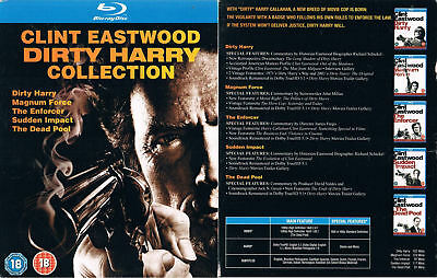 DIRTY HARRY 1 2 3 4 5 --- Blu-ray --- Collection-Box --- alle 5 Filme --- Uncut