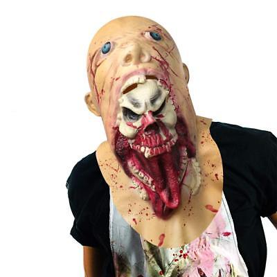 Halloween Mask Scary Evil Costume Mask Full Over The Head Latex Rubber Mask