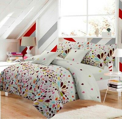 Floral Harlequin Duvet Covers Bedding Set Quilt Cover single double king Sizes
