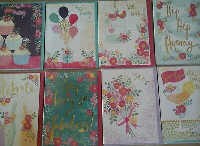 50 Rose Gold Cards, Wholesale Joblot Greeting Cards