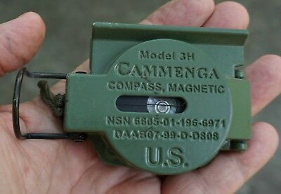 Army Cammenga Model 3H Compass stamped 06 07 10 NSN 6605 01 196 6971 (LOC = K3)