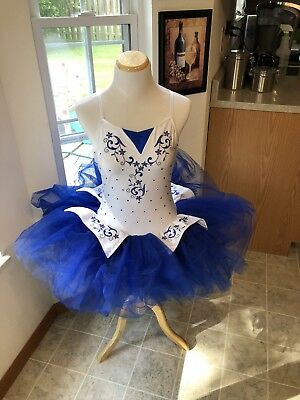 White And Blue Ballet Revolution Tutu Medium Adult