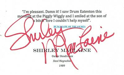 Entertainment Memorabilia Autographs-original Red Buttons Actor Comedian 1976 Shirley Maclaine Autographed Signed Index Card