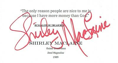 Autographs-original Red Buttons Actor Comedian 1976 Shirley Maclaine Autographed Signed Index Card