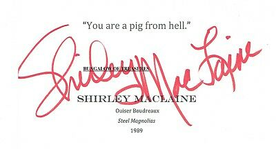 Movies Entertainment Memorabilia Red Buttons Actor Comedian 1976 Shirley Maclaine Autographed Signed Index Card