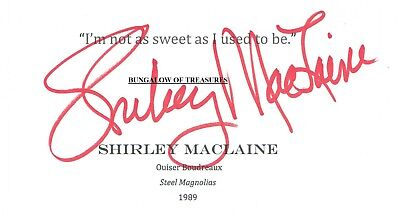 Red Buttons Actor Comedian 1976 Shirley Maclaine Autographed Signed Index Card Entertainment Memorabilia