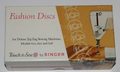 Singer Fashion Discs Deluxe Zig Zag Sewing Machine 620 625 628 Touch Sew #21976