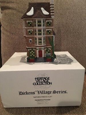 Department 56 Dickens' Village Series - Nephew Fred's Flat - Excellent Condition