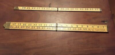 Collectable carpenters wooden ruler x1 and part of x 1