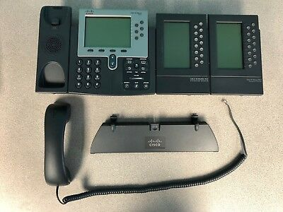 Cisco IP Phone 7962 with two 7914 expansion module