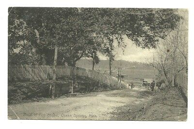 1909 Ocean Springs Ms View On The Fort Bayou Road - Whitile Drug Store Card