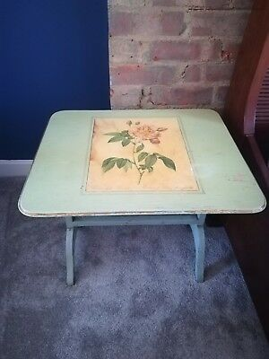 original antique painted vintage side table