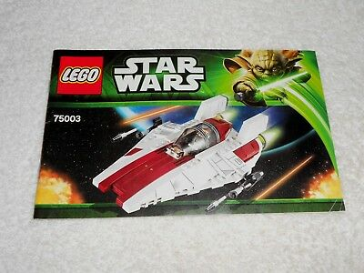 Lego Star Wars Set 75003 A Wing Starfighter With Instructions