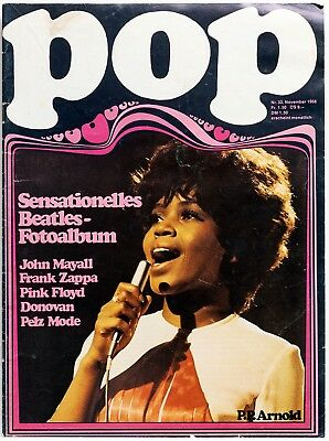 POP - Nr. 33 November 1968 - Beatles, Zappa, Pink Floyd, PP Arnold - Top Zustand