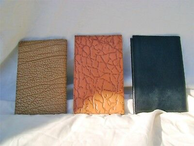 THREE VINTAGE 1960s LEATHER AND PIGSKIN GENTS WALLETS