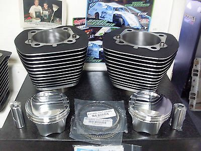 Harley Twincam Big Bore 107 Cp Piston & Cylinders Kit 2007 Up 10.25-10.50 Cr