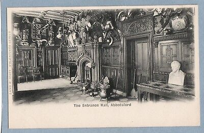 VINTAGE POSTCARD - THE ENTRANCE HALL ABBOTSFORD - Unposted