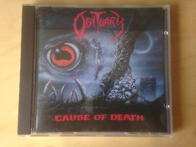 OBITUARY - Cause of Death CD 1st Press 1990 **SIGNED** | Entombed Death Pantera