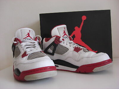 best service 9d5b5 9d278 Nike Air Jordan 4 retro white fire red 308497-110 EU 43 US 9,