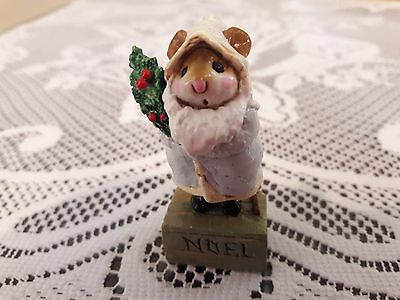 Wee Forest Folk M- 164 Father Christ-Mouse in GREY  Retired/MINT/Box