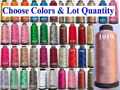 5 Rayon Viscose Silk  Embroidery Machine Thread 2500 mtr each.100+ colors choose