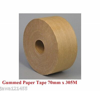 Reinforced Gummed Paper Tape 70mm x 305M 1 2 3 5 Rolls Deal with Logo Print
