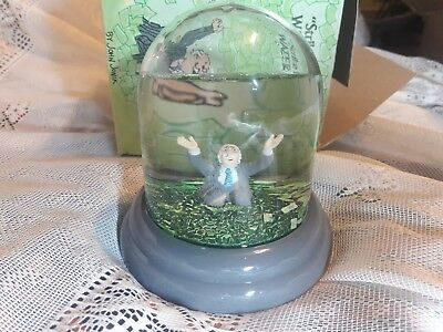 Enesco Vintage 1985 Snow Water Globe Strike It Rich New Old Stock