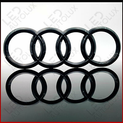 New Black Gloss Front Grille Badge Ring Logo Emblem Audi C7 Q3 Q5 Q7 285x99mm