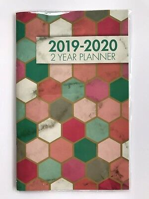 2019-2020 Two-year Monthly Planner Calendar Appointmen Book 5x8 Honeycomb Marble