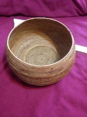 Hand Woven Basket Ketax Grass Made By Sosak People West Lombak Island Indonesia