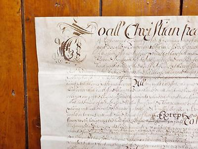 1673 Scratby Ormesby Hemsby Caister Norfolk 17th century Vellum Deed Document