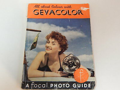 vintage All About Colour with Gevacolor booklet A Focal Photography Guide book