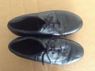 Womens Size 6  Bloch Shockwave Leather Black Tap Shoes Lace Up