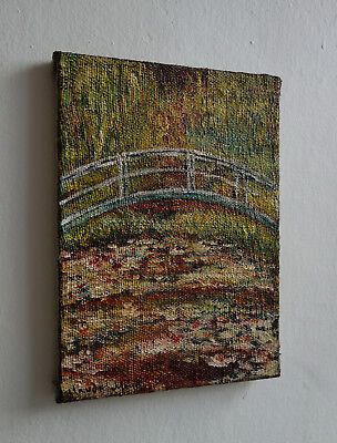 Ultra Rare Water lilies masterpiece painting, signed, Claude Monet with COA