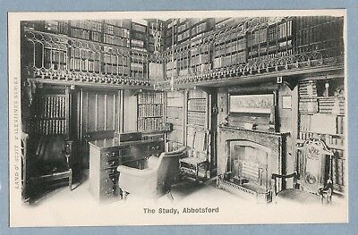 VINTAGE POSTCARD - THE STUDY ABBOTSFORD - Unposted
