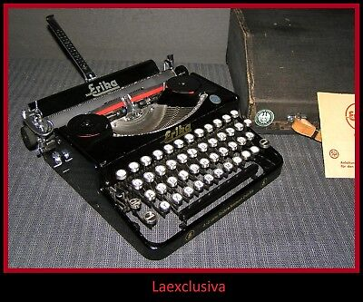 Awesome ERIKA 5 typewriter from 1936 (pre WW2) ,..WORKING ! (see video inside )