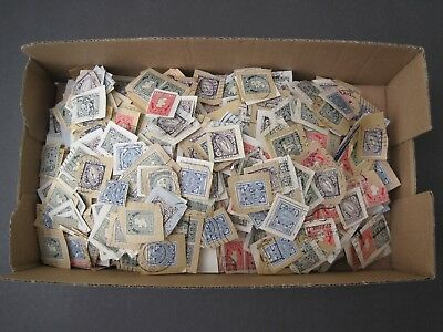 Ireland 1950's on Large Amount of stamps on paper Cancellations/Postmarks. 200g+