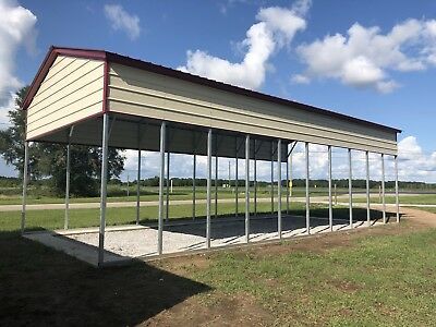 RV CARPORT 18x41 12' Walls  140MPH Built And Installed On Your Property