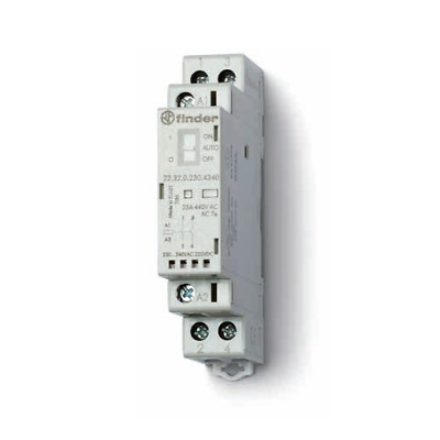 Finder 22.32 Installation Contactor 230V Ac Dc /25A /2 Closer 22.32.0.230.4320