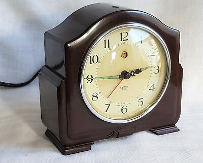 Vintage Smiths Sectric Clock Bakelite Case Ca Model Sweeping Second Hand Working