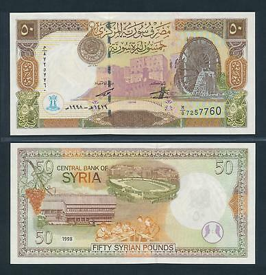 [77146] Syria 1998 50 Pounds Bank Note UNC P107