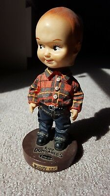 Vintage Buddy Lee Bobblehead Statue.  XL Cond. Used to advertise Lee Jeans.