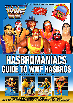 WWF HASBRO GUIDE - 24 Pages! WRESTLING BOOK WWE MAILAWAY 123 KID ACTION FIGURES